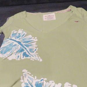Hollister green flowered Green/blue Size XS